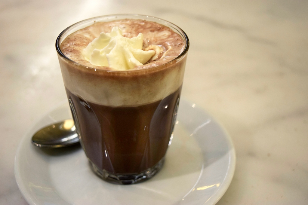 Hot Chocolate with whipped cream Rich chocolate flavor.