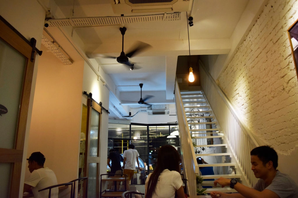 Interior of IScream.  I was seated at the back. This view is facing towards the entrance.
