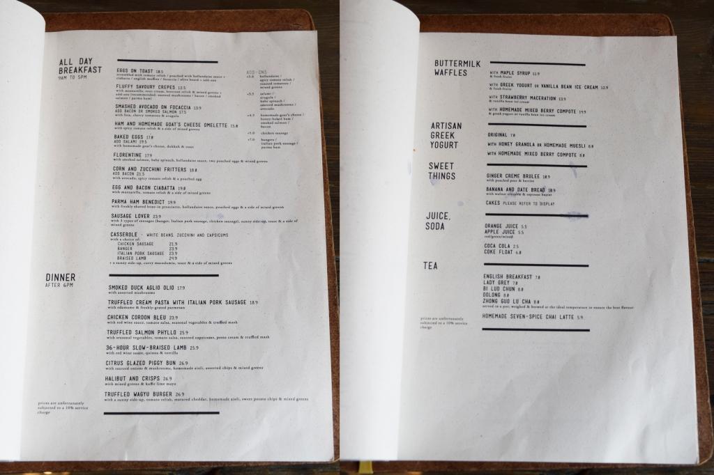 More of their menu. Mains & Desserts.