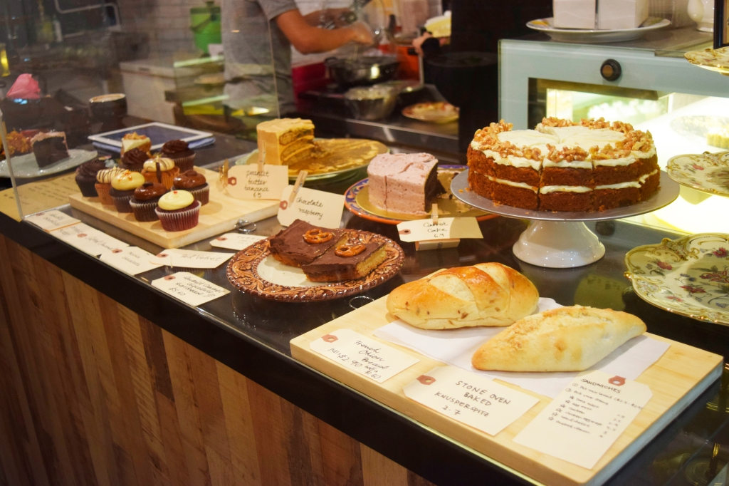 Selection of cakes & desserts.