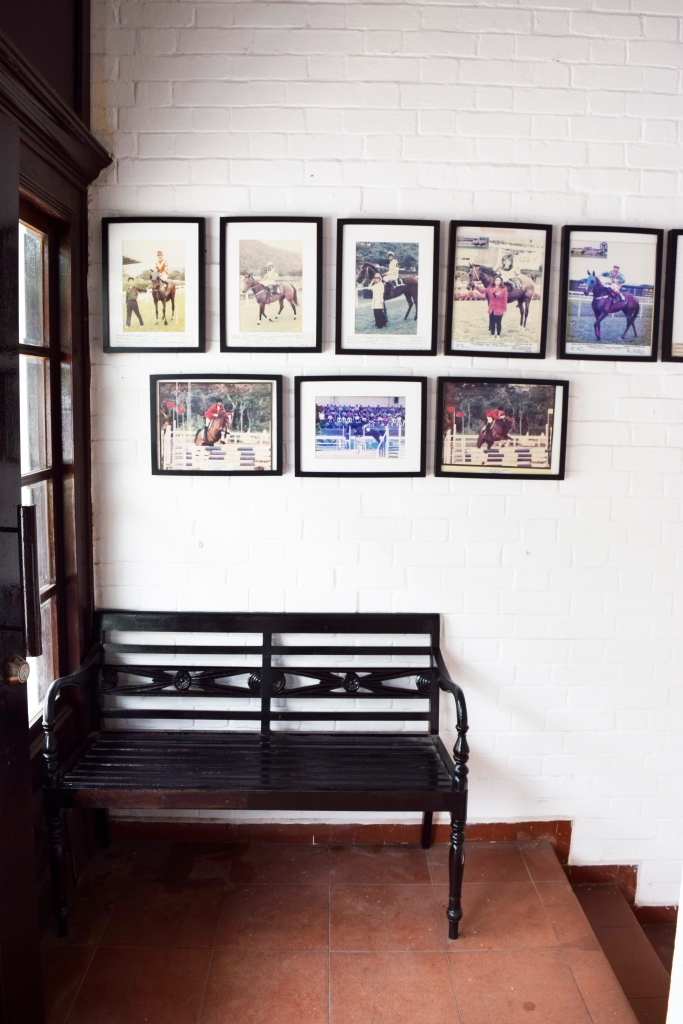Riders is filled with great spots for photo-ops. This is one of them, with pictures of horse & jockeys on the wall from the Bukit Timah Saddle Club.
