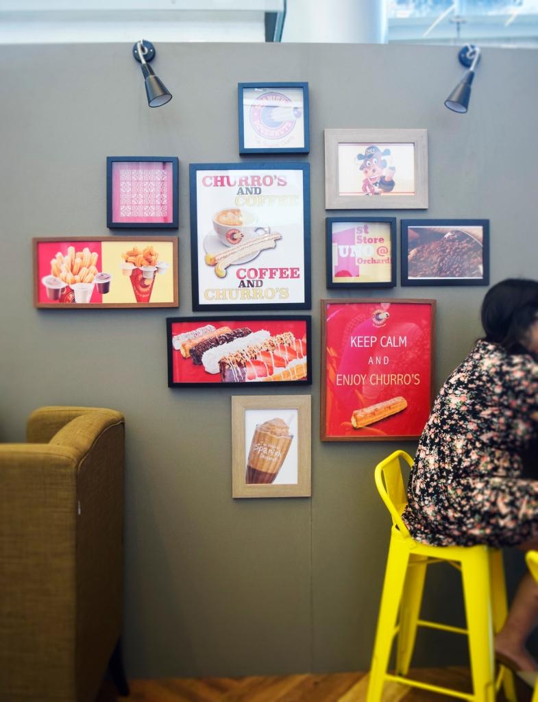 Wall decor of Spanish Doughnuts.