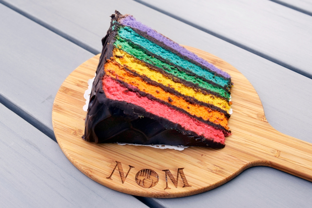 Chocolate Rainbow Cake ($7.90) Another version of their Rainbow Cake. This was pretty good as well but I did prefer the Salted Caramel version as I don't usually go for chocolate cakes.  Their rainbow cakes actually sell out very fast. During my visit, only one slice of the chocolate variation was left and half of the salted caramel variation left. Within the timespan of my visit to NOM, their salted caramel rainbow cake got sold out. They are definitely really popular.