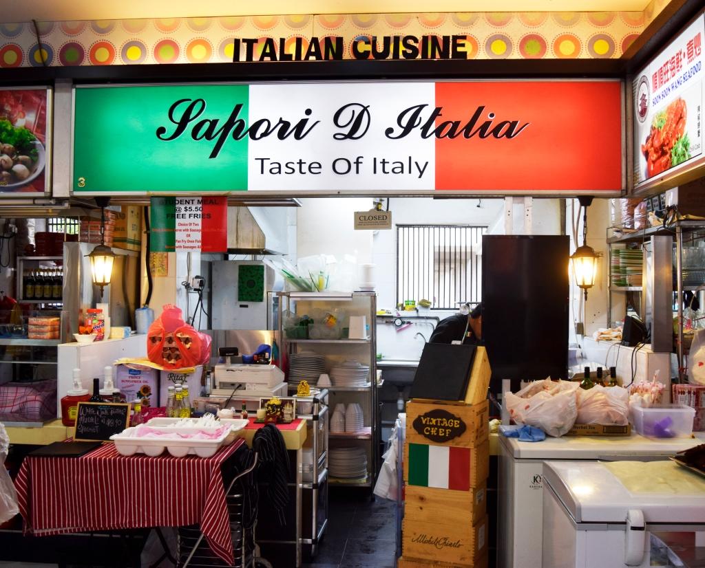 Sapori D' Italia's stall.