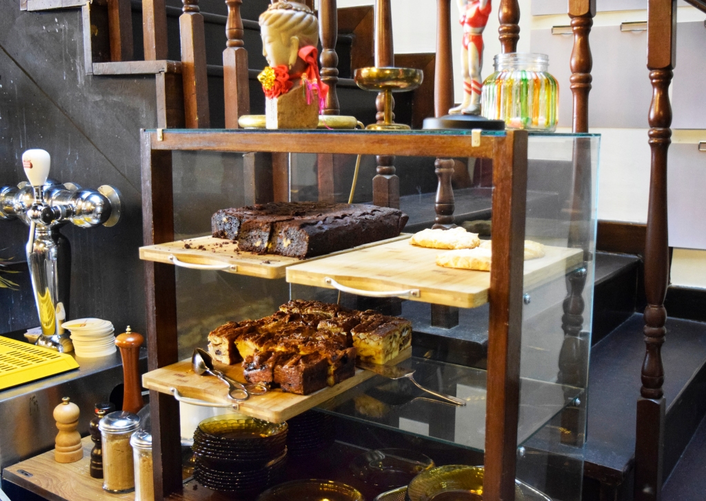 Some of their desserts on display.