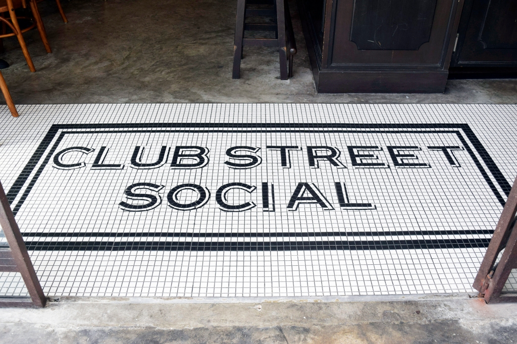 The iconic tiled floor. This is the first thing you will see when you enter Club Street Social. A very popular Instagram favourite.
