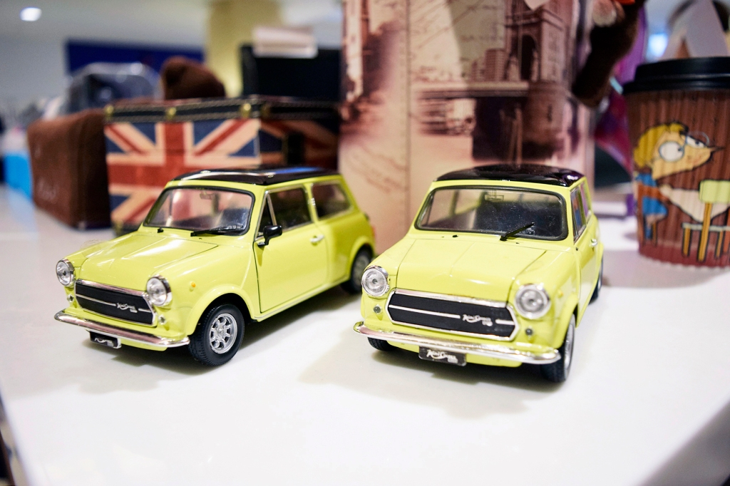 Mr. Bean's iconic Minis.  (Fun fact: It was actually originally orange in the first episode of Mr. Bean.)