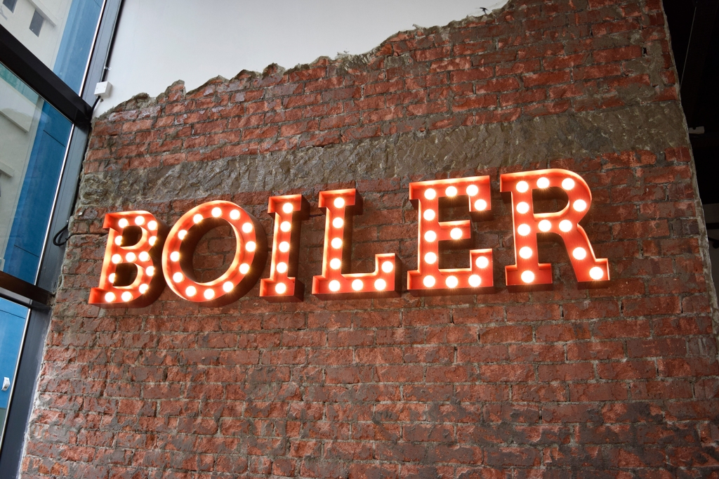 A light signage of The Boiler.  (Reminds me of the sign at The Beast.)