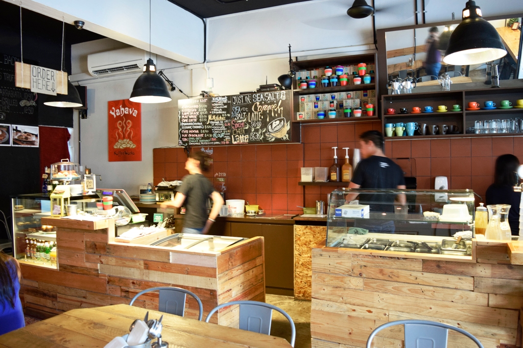 View of the counter space where you can often find Douglas himself brewing up coffee orders.