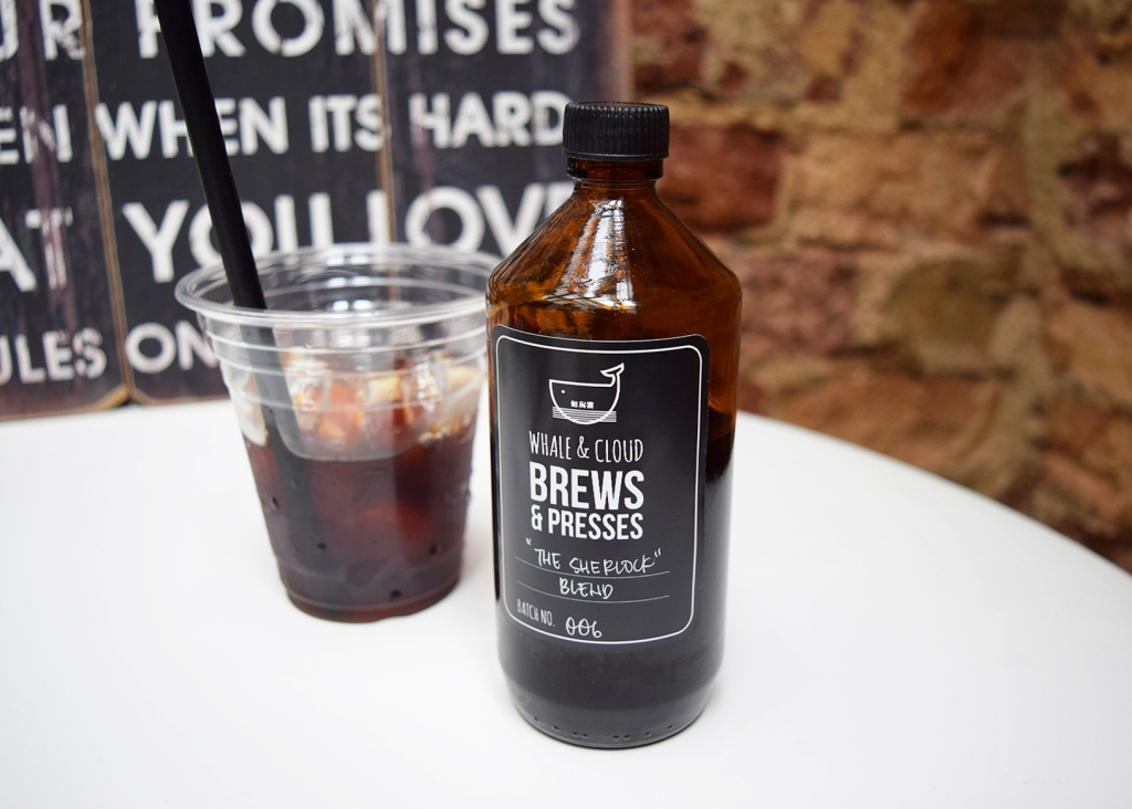 Small Batch Cold Brew ($8) Perhaps the most well-known item from Whale & Cloud, is their cold brews.  Even though it was also bitter, I found it to be weirdly addictive. I just wanted to take sip after sip of this brew. Really good. They even let me keep the cool bottle!