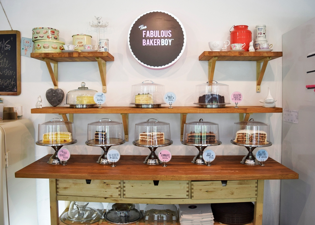 The cake display. Look at all of 'em cakes. You would be spoiled for choice.