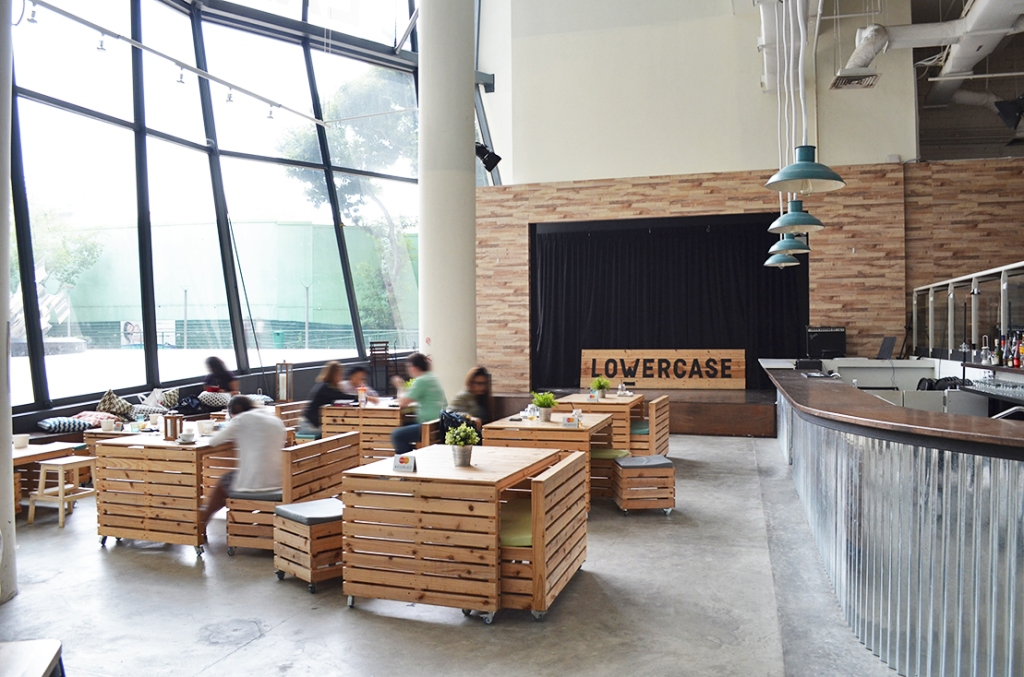 Further seating on the lower level of the cafe.  (Perhaps this is the reason the place is named Lowercase?)