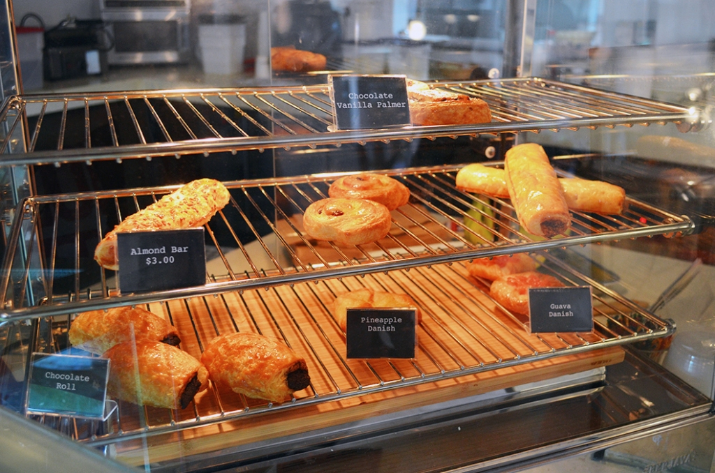 The cafe also offers Danishes & pastries.