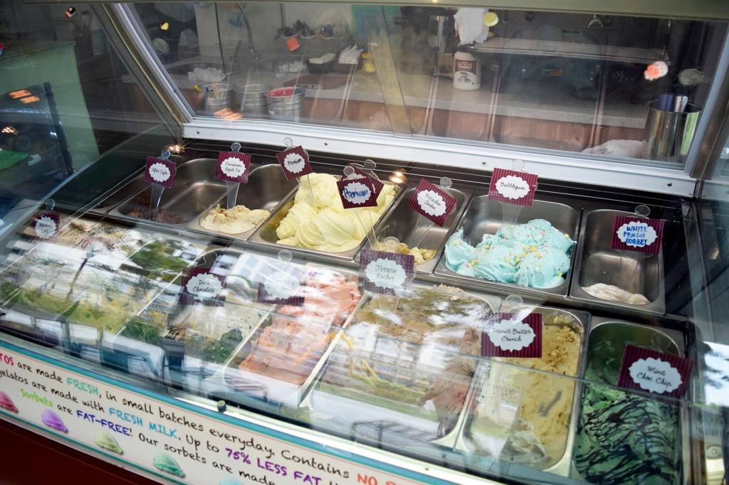 The humble gelato selection.