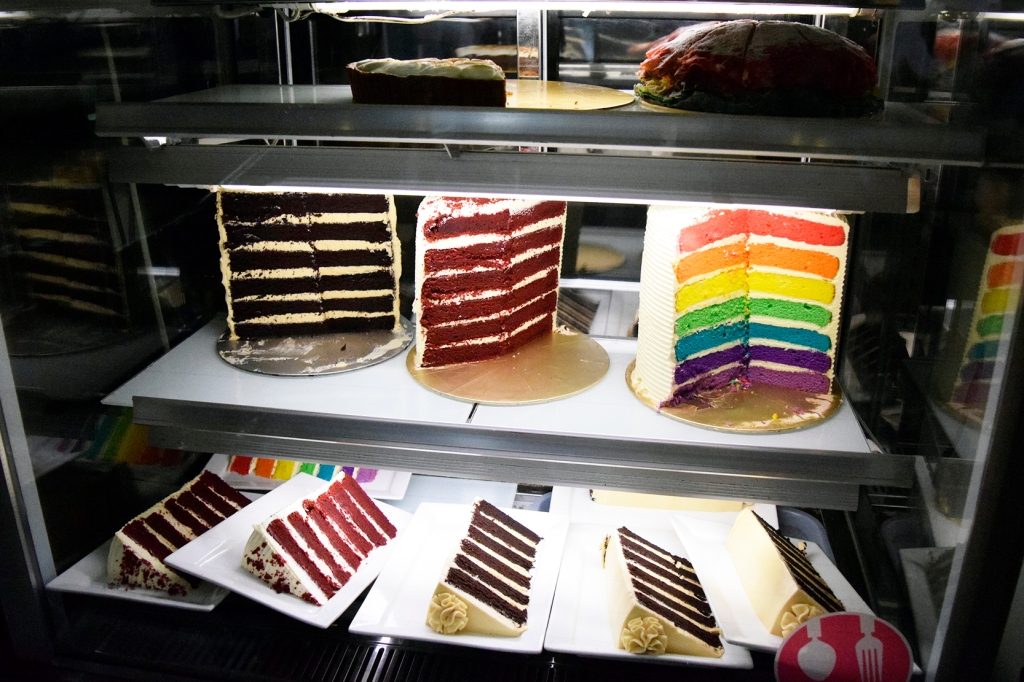 Cakes! Look at those multi-layered cakes!