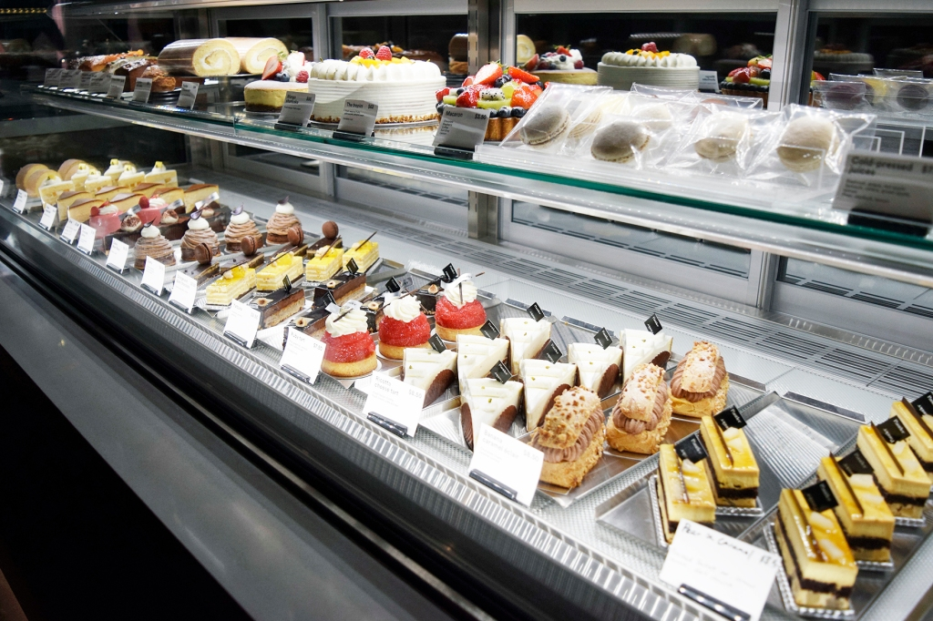 Look at all those desserts. You'll feel like a kid in a candy store.