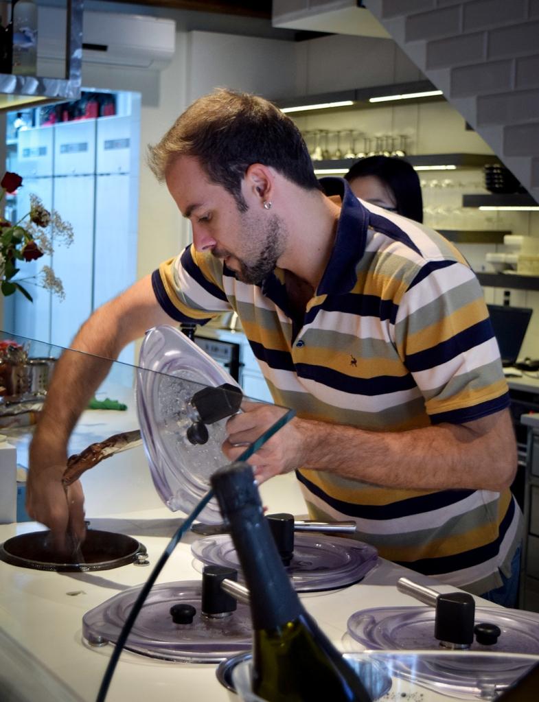 Chef Stefano Cadorin hard at work.