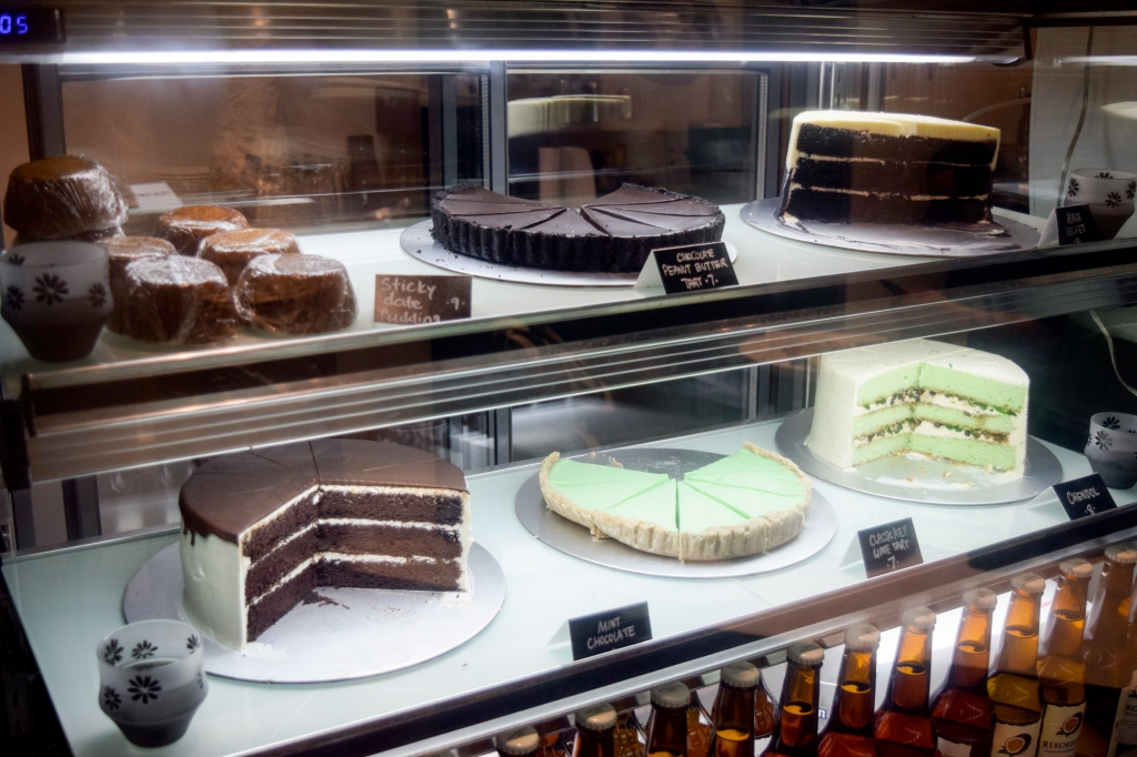 Cakes, cakes, cakes & tarts! The desserts here are actually outsourced from a local baker & they are even Halal.