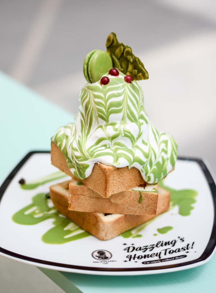 Matcha with Azuki Beans Honey Toast ($19.90) Say hello to my little friend, the Matcha Honey Toast! This dessert has been spamming my Instagram feed & haunting me. The thick toast is topped out with dollops of whipped cream, Matcha sauce & Matcha ice-cream. Definitely a sight for sore eyes. I really liked the taste of the entire dessert, each cubed toast was smeared with butter & the combination of flavours with the cream & Matcha ice-cream was simply divine. One thing I noticed were the Azuki beans, or lack thereof; it was so little, that I had forgotten it was in the dessert. My friend also commented that the whipped cream was way way way too much & it got overwhelming after a while, to which I agree.
