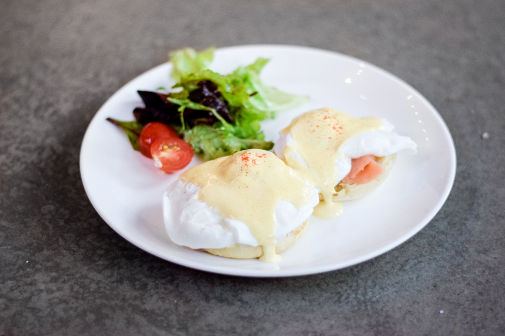Eggs Royale ($11.50) Poached Eggs, Smoked Salmon, English Muffin, Hollandaise, Mesclun Salad My friend had this & thought it was quite alright as well. Eggs were perfectly poached. The price was definitely on point for this, one of the most affordable ones I've come across for Eggs Royale.