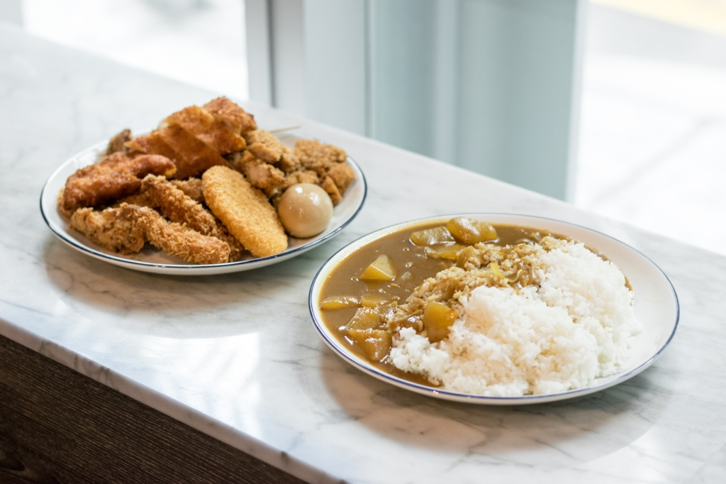 """Big Size Curry Rice ($19.80) What happens when there's two hungry guys? You get the Big Size Curry Rice of course! (It's pretty much for 2-3 people.) My friend spotted this on the menu & was sold. """"Go hard or go home! Let's do this."""" The chef over at Udon GOEN gave a chuckle when we decided to order this."""
