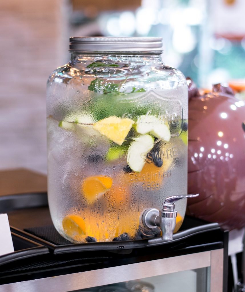 I adored their fruit-infused water. Not many places put so much thought in free flow water.