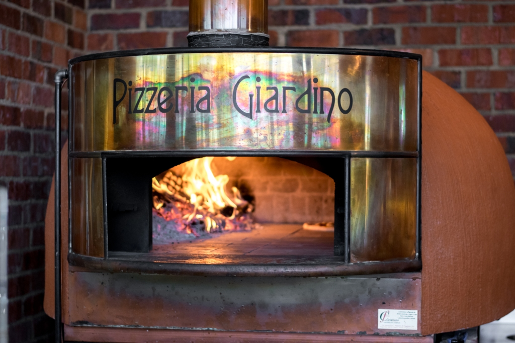 The stunning wood-fired oven.