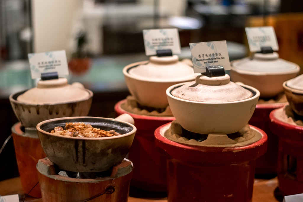 Claypot rice on display. Yum.